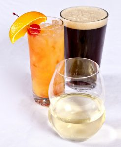 $1 off Draft Beers, $2 off any Glass of Wine, $1 off any Well Drink