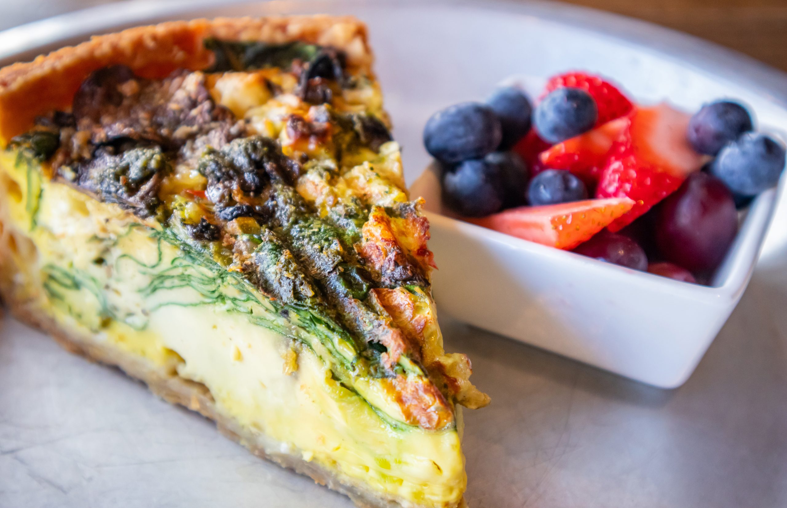 quiche and berries